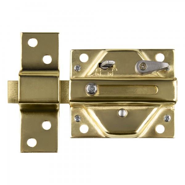 Cerrojo de seguridad. Cerrojo handlock 85mm dorado ll.serr.