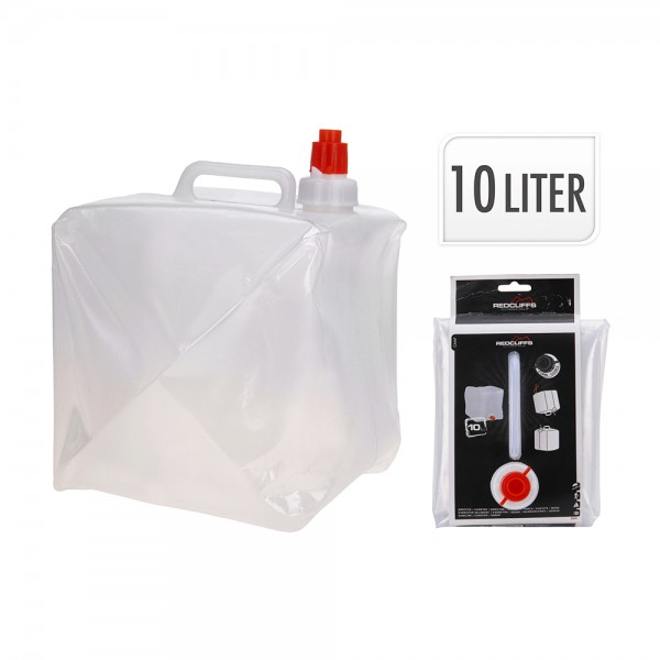 Deposito de agua de plastico para camping 10l 19x20x25cm