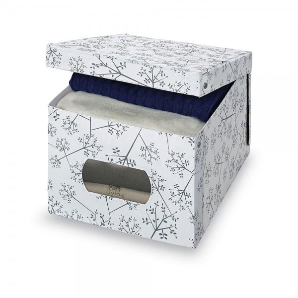 Caja guarda ropa vinilo xl bon ton 42x50x31cm