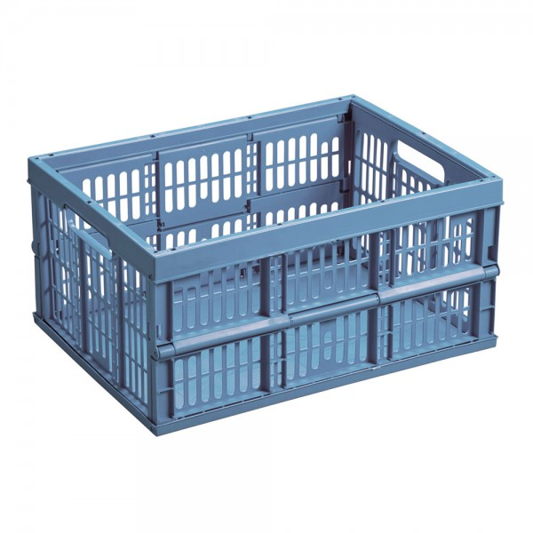 Caja plegable 32lt 48x35x25cm color azul mondex