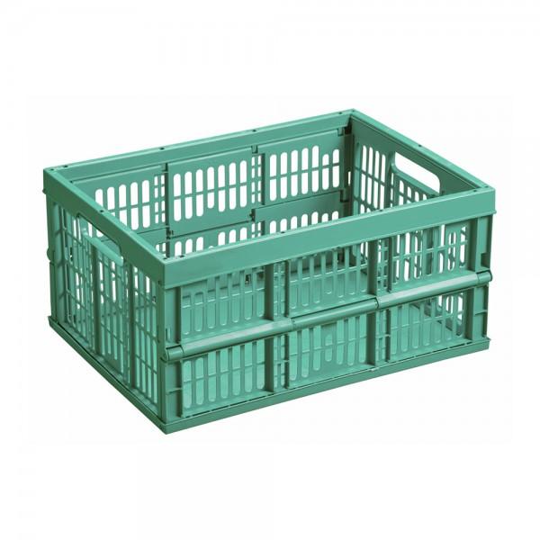 Caja plegable 32lt 48x35x25cm color verde mondex