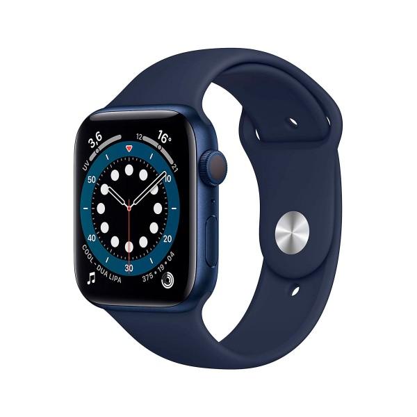 Apple watch series 6 /gps/44mm/caja de aluminio en azul/correa deportiva azul marino intenso/app oxígeno en sangre/app ecg