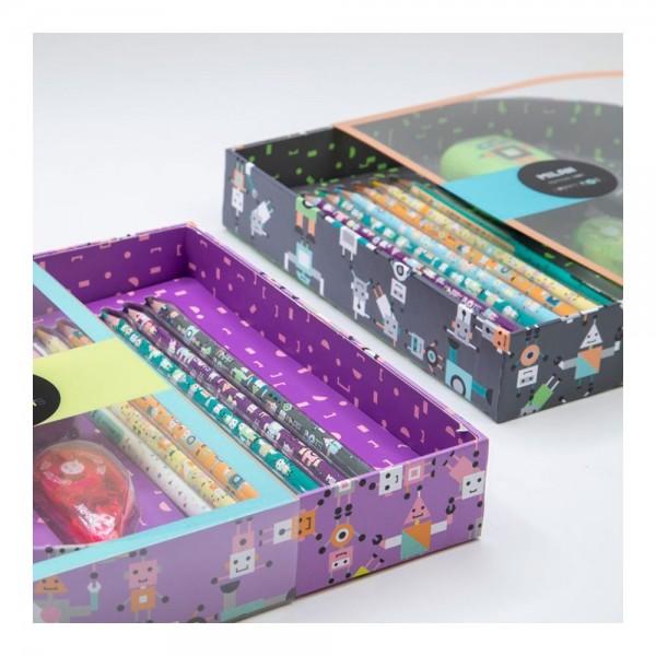 Caja regalo edition box happy bots verde milan