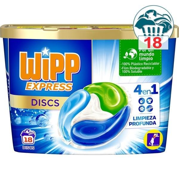 Wipp Express detergente Cápsulas 18 lavados